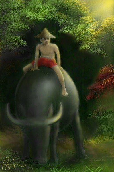 Buffalo Shepherd | Aspin | Digital Drawing | PENUP