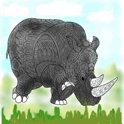 Rhino | MariyaRobert | Digital Drawing | PENUP