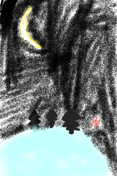 밤하늘에 빛나는물 | LSB | Digital Drawing | PENUP
