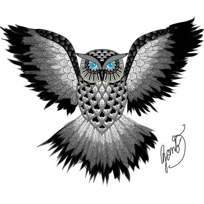 ฮูกๆ | NuKrit | Digital Drawing | PENUP
