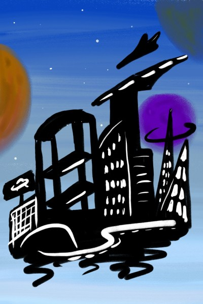 Floattown | Yurara | Digital Drawing | PENUP
