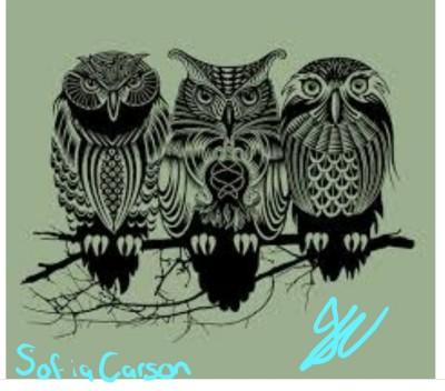owl of my eye  | SofiaCarson | Digital Drawing | PENUP