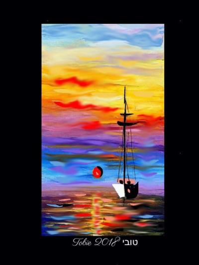 sunset on the sea | Tobie.ISR | Digital Drawing | PENUP