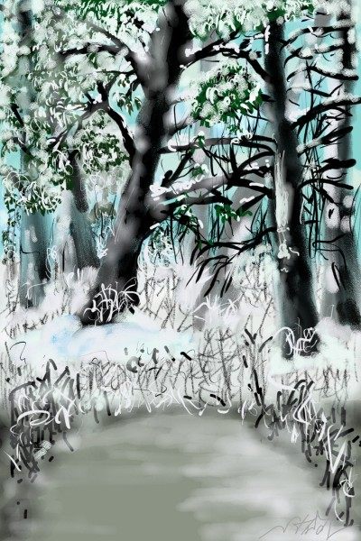 winter in the forest | brad | Digital Drawing | PENUP
