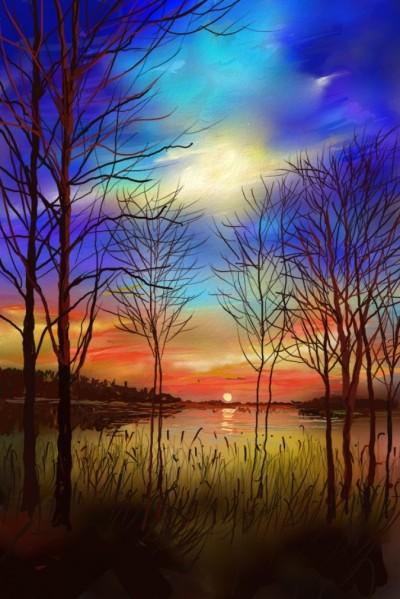 Sun set | SSB | Digital Drawing | PENUP