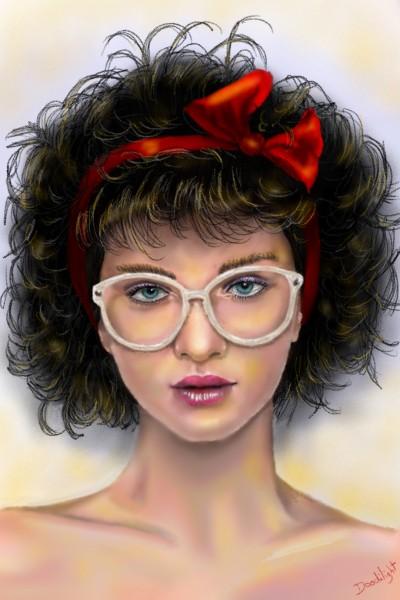 Fille à lunettes  | Doodilight | Digital Drawing | PENUP