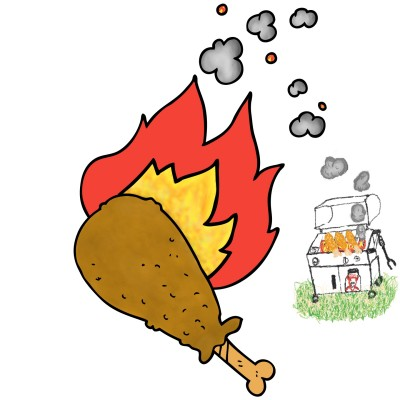 BBQ & Chicken Leg | Trish | Digital Drawing | PENUP