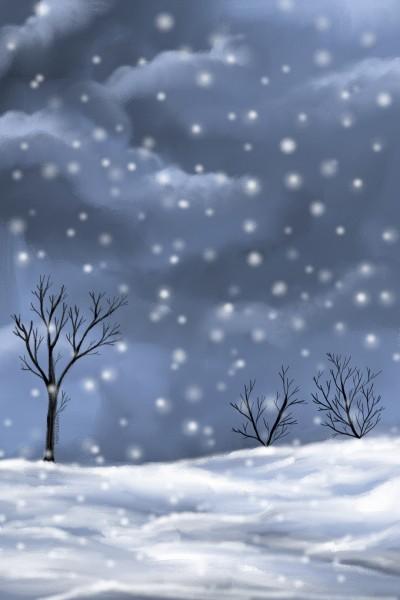 Snowfall | MonSouhait | Digital Drawing | PENUP