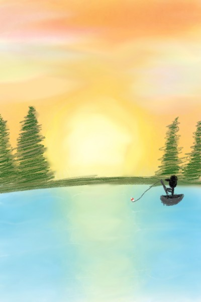let's go fishing!   Zenovia   Digital Drawing   PENUP