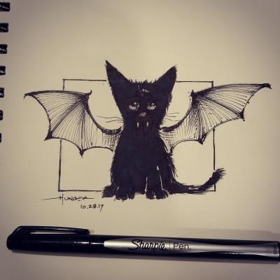 Batcat | Hunger_art | Digital Drawing | PENUP