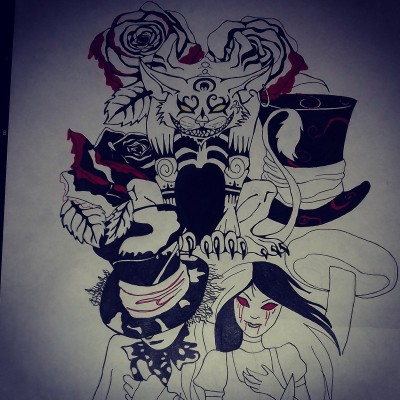 Aлиса в зазеркалье | Lely | Digital Drawing | PENUP