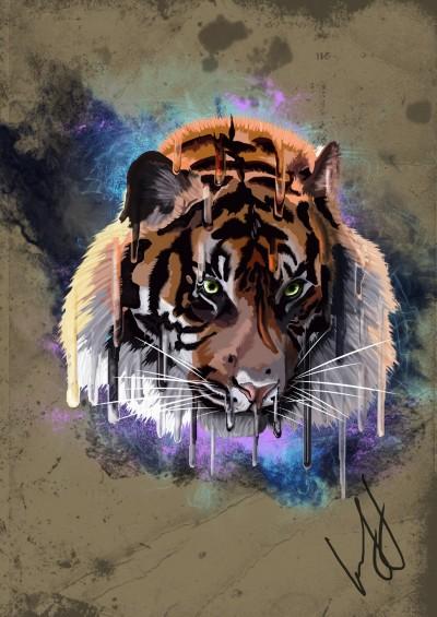 Tiger  | Lely | Digital Drawing | PENUP