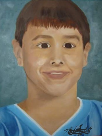 My son@ 12 year old before Heaven. oil paint. | mburdick | Digital Drawing | PENUP