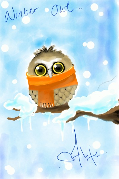 Winter owl | scoopiss | Digital Drawing | PENUP