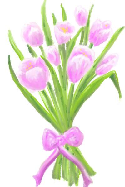pink tulips | Damirijana | Digital Drawing | PENUP