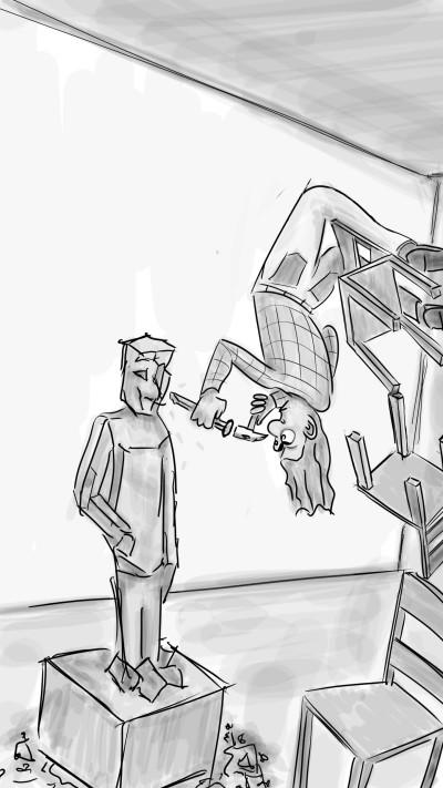 Acrobatic sculptor | Robbe | Digital Drawing | PENUP