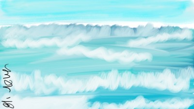 turquoise ocean   mich   Digital Drawing   PENUP