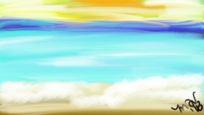 beach and sun  | mich | Digital Drawing | PENUP