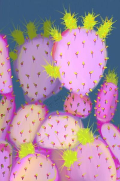 Purple Prickly Pear! ♡ | .-.-.A.L.B.-.-. | Digital Drawing | PENUP