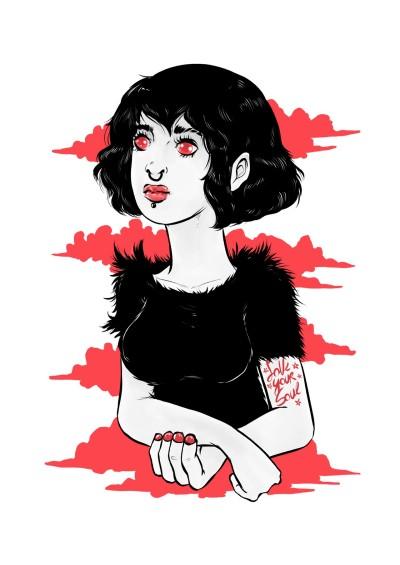 Black + Red | AL1ISBETTER | Digital Drawing | PENUP