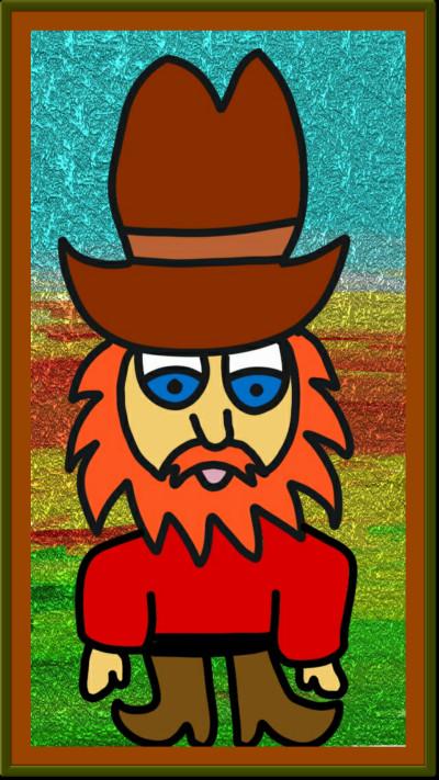 Crazy Cartoon Cowboy  | Charldia | Digital Drawing | PENUP