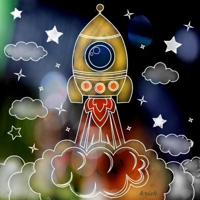 Rocket Launch    krish   Digital Drawing   PENUP