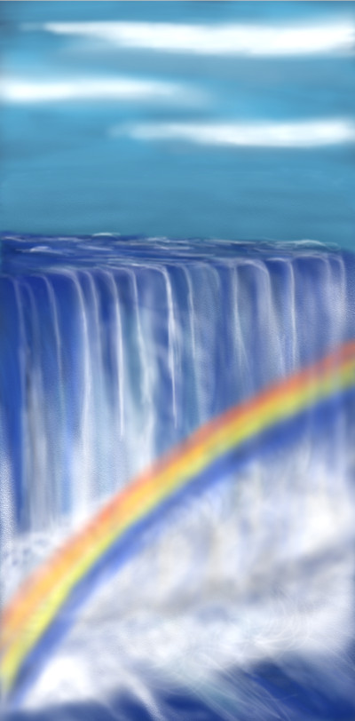 Waterfall and Rainbow  | Terry627 | Digital Drawing | PENUP