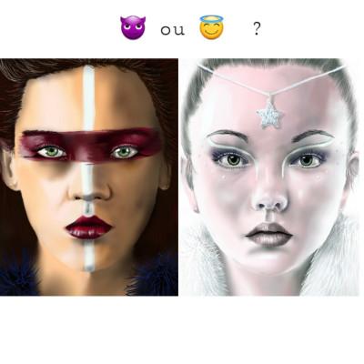 Démon ou ange? | Doodilight | Digital Drawing | PENUP