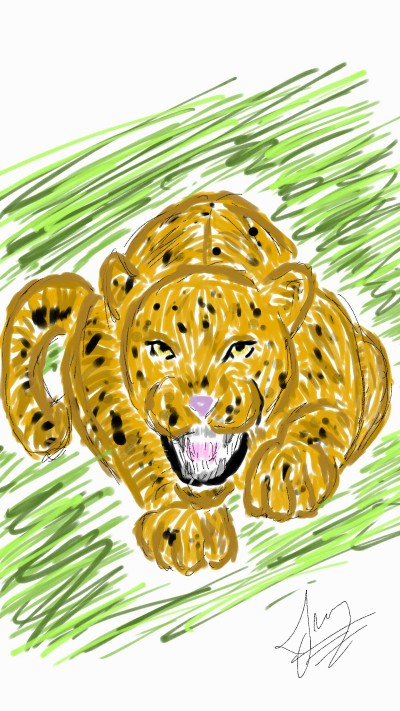 Painted Leopard | SoloSketch | Digital Drawing | PENUP