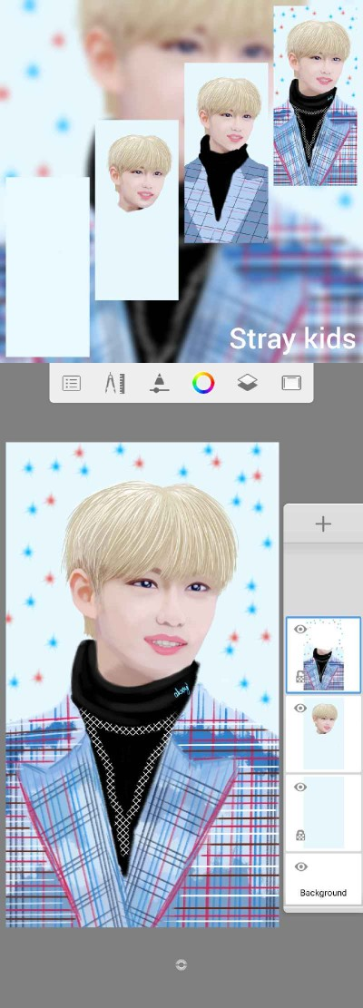 for my dear friend Roh♡♡  #STRAY KIDS (FELIX) | -aksoy- | Digital Drawing | PENUP