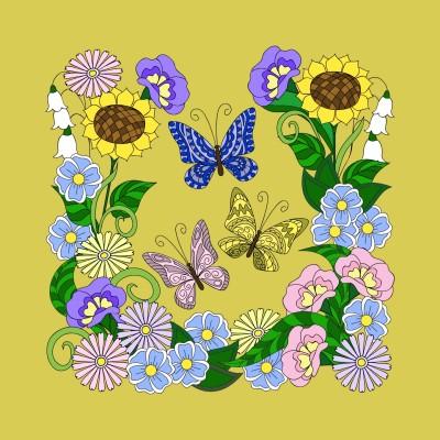 Butterflies  &  Flowers  | Trish | Digital Drawing | PENUP