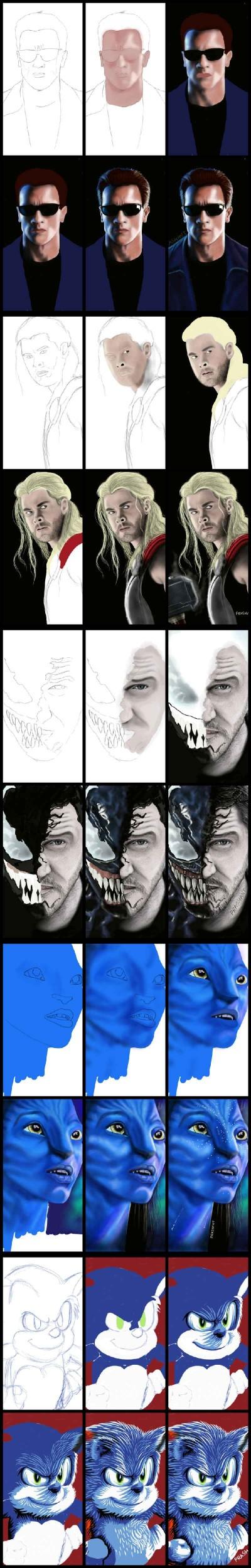 Work in progress in live drawing! | Prashant | Digital Drawing | PENUP