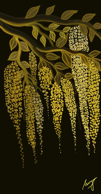 Golden Shower | Sugan | Digital Drawing | PENUP