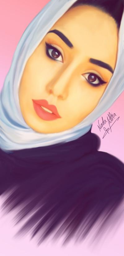 smudge painting of the beautiful Mai ibrahim  | NadaAttiah | Digital Drawing | PENUP