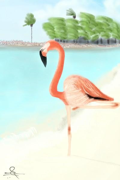 flamingo 🐦 challenge  | MFS | Digital Drawing | PENUP