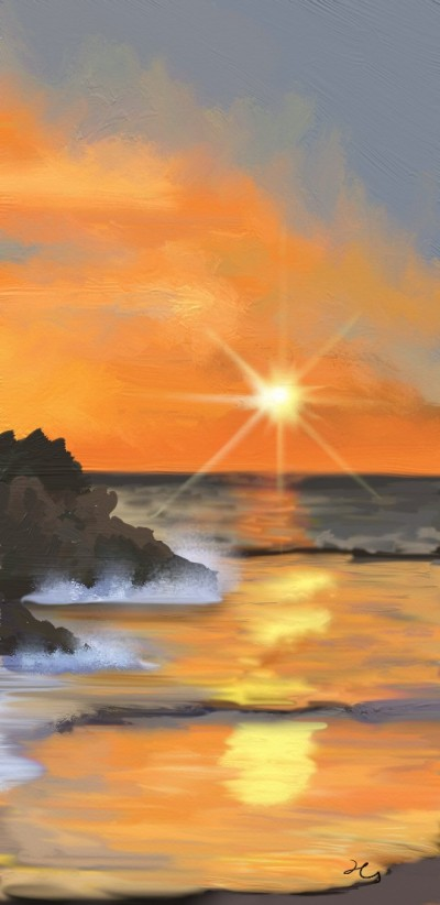 sunset | Hanne | Digital Drawing | PENUP
