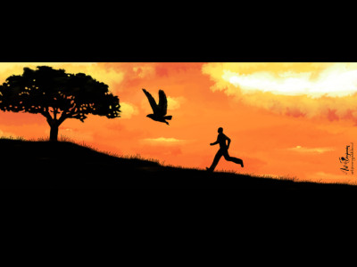 Running after you | ArtByBenjamin | Digital Drawing | PENUP