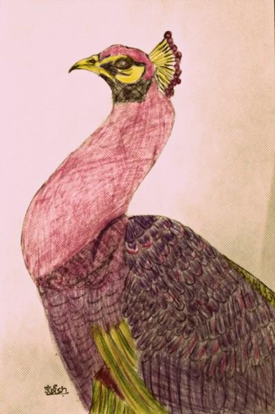 BEAUTIFUL BIRDS :: PEACOCK  | krish | Digital Drawing | PENUP