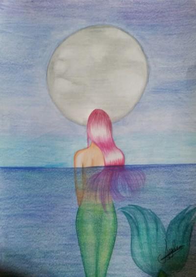 mermaid's evening | AngelaPezzotti | Digital Drawing | PENUP