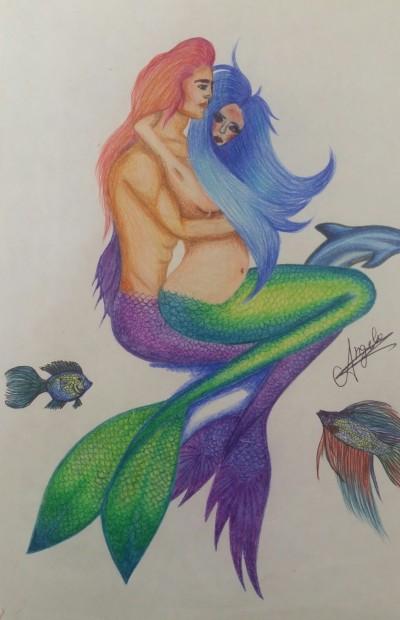 mermaid's love | AngelaPezzotti | Digital Drawing | PENUP