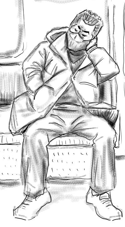 전철 쩍벌남 | vazl | Digital Drawing | PENUP