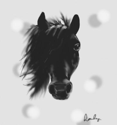 Black Horse   Lozly   Digital Drawing   PENUP