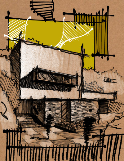 Architectural sketch    AztecArchi   Digital Drawing   PENUP