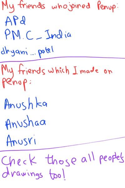 Friends  | A.KGandhi_INDIA | Digital Drawing | PENUP