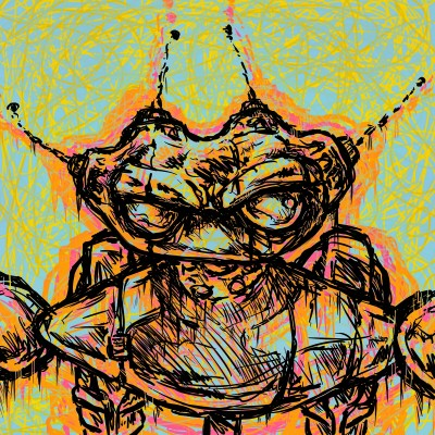 progression of a glitched out casebot  | casebasket | Digital Drawing | PENUP