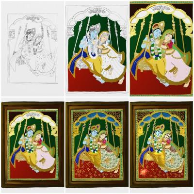 Krishna and Radha art process | Sugan | Digital Drawing | PENUP