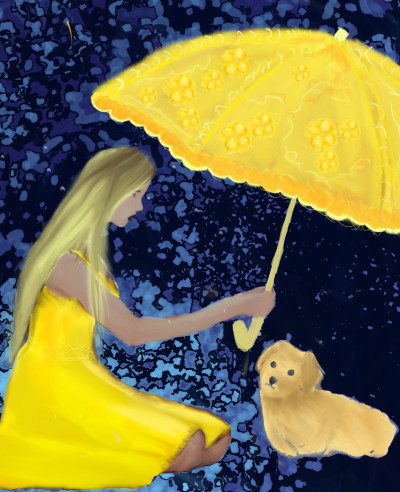 girl with dog | termybug | Digital Drawing | PENUP