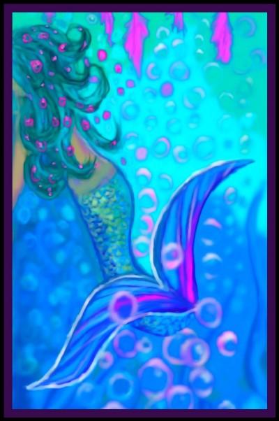 Water Fluid Mermaid by KER. Reference used.  | katherineeroach | Digital Drawing | PENUP