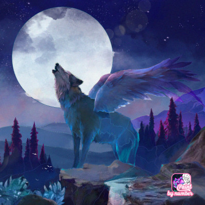 Howling In The Moon | bohemian_anqel | Digital Drawing | PENUP