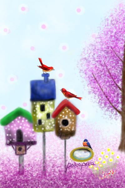Old bird house. But birds of paradise   pokapoka   Digital Drawing   PENUP